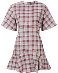 Maison Kitsuné - Checked A-line Dress - Lyst