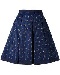 Moncler - Flower Print Skirt - Lyst
