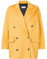 Alberto Biani - Double Breasted Oversized Coat - Lyst