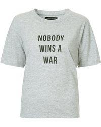 Nobody Denim - Nobody Wins A War T-shirt - Lyst