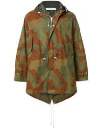 Off-White c/o Virgil Abloh - Camouflage Rain Coat - Lyst