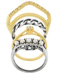 Iosselliani - Silver Heritage Set Of Four Rings - Lyst