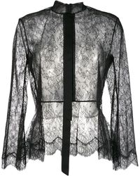Olivier Theyskens - Sheer Lace Blouse - Lyst