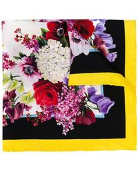 Dolce & Gabbana - Classic Floral Square Scarf - Lyst