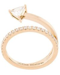Delfina Delettrez - 18kt Champagne Gold Marry Me Diamond Ring - Lyst
