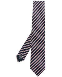 Brioni - Cravatta a righe diagonali - Lyst
