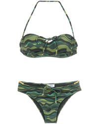 Amir Slama - Wave Print Bikini Set - Lyst