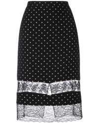 Givenchy | Star Embroidered Lace Panel Skirt | Lyst