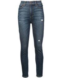 Alice + Olivia - Jalisa Distressed Skinny Jeans - Lyst