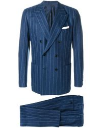 Kiton - Pinstriped Suit - Lyst