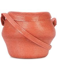 Rosie Assoulin - Straw Bucket Crossbody Bag - Lyst
