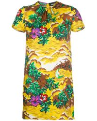 DSquared² - Floral Fitted Dress - Lyst