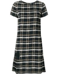 Armani Jeans - Grid Print Dress - Lyst