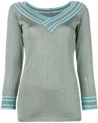 Charlott - Metallic Knitted Pullover - Lyst