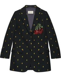 Gucci - Pineapple Fil Coupé Wool Jacket - Lyst