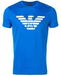 Emporio Armani - T-Shirt mit Logo - Lyst