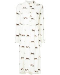 Aleksandr Manamïs - Hare Print Shirt Dress - Lyst
