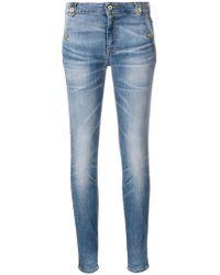 Just Cavalli - Leather Stripe Detail Jeans - Lyst