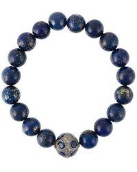 Gemco - Bead Diamond Ball Bracelet - Lyst