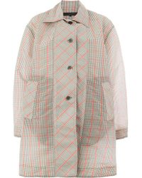 Miaoran - Checked Single Breasted Coat - Lyst