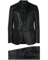 Philipp Plein - Tonal Print Two Piece Suit - Lyst