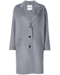 KENZO - Single Breasted Coat - Lyst