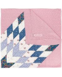 COACH - Quilted Patchwork Scarf - Lyst