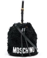 Moschino - Furry Satchel Bag - Lyst