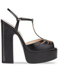 Fendi - Zapatos de plataforma con aberturas - Lyst