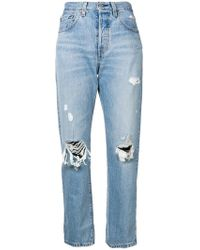 Levi's - Jeans im Distressed-Look - Lyst