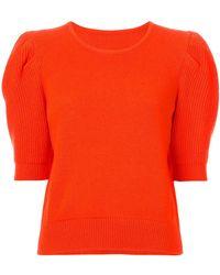 Carolina Herrera - Short Sleeve Knit - Lyst