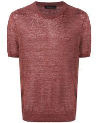 Ermenegildo Zegna - Short-sleeved Knitted Top - Lyst