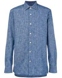 Kiton - Micro Dot Shirt - Lyst