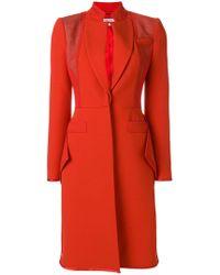 Givenchy - Ruffle Hem Crepe Coat - Lyst
