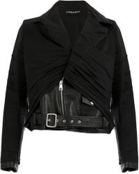 0678223ef4ae Y. Project - Contrast Panel Biker Jacket - Lyst