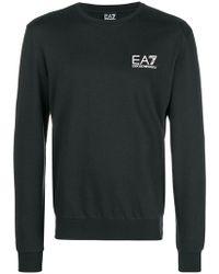 EA7 - Printed Logo Jumper - Lyst