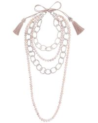 Night Market | Pearl And Bead Layered Necklace | Lyst