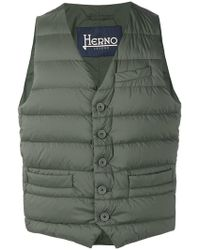 Herno - Padded Fitted Gilet - Lyst
