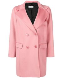 Alberto Biani - Double Breasted Coat - Lyst