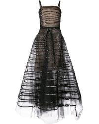 Oscar de la Renta - Sequin Band Embroidered Dress - Lyst