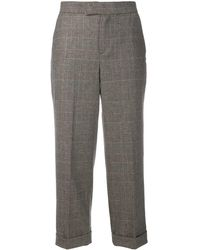 Twin Set Prince Of Wales Check Trousers - Gray