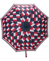 Thom Browne - Argyle Crooked Handle Umbrella - Lyst