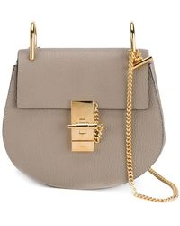 Chloé - 'mini Drew' Leather Shoulder Bag - Metallic - Lyst