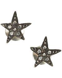 Werkstatt:münchen - Werkstatt:münchen Embellished Stars Earrings - Lyst