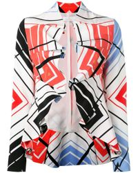Capucci - Ruffled Printed Cropped Jacket - Lyst