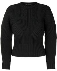 Versace - Ribbed Long Sleeve Jumper - Lyst