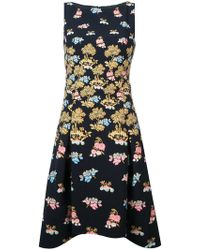 Peter Pilotto - Fig Tree Print Midi Dress - Lyst