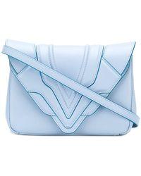 Elena Ghisellini - Panelled Flap Handbag - Lyst
