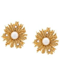 Oscar de la Renta | Pearl Burst Button Earrings | Lyst