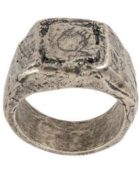 Tobias Wistisen - Embossed Design Square Ring - Lyst